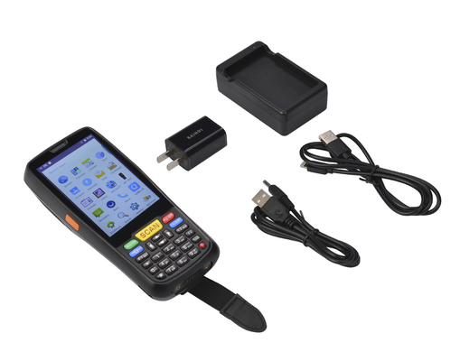 Tragbares Android industrielles PDA 1D/2D Barcode-Scanner-biometrischer 4 Zoll LCD